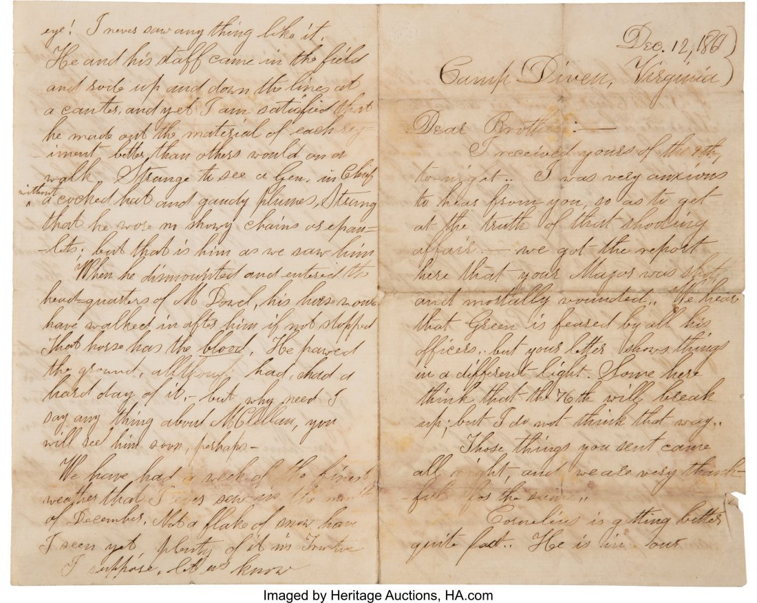 47051: [Civil War]. Lansing Family Archive. A group of  - 2