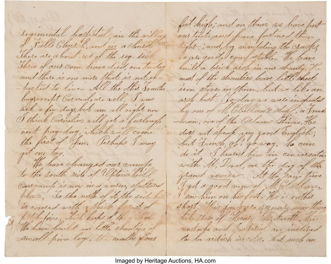 47051: [Civil War]. Lansing Family Archive. A group of  - 3