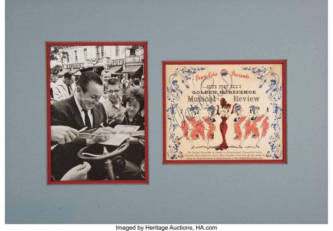"47173: Walt Disney Program Signed  ""Walt Disney"". One p"
