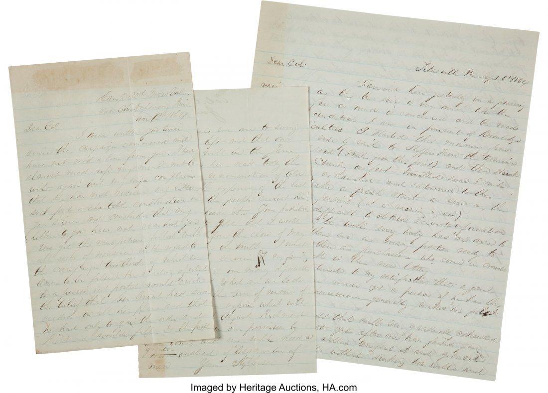 47078: [Civil War]. Union General Luther Stephenson Let