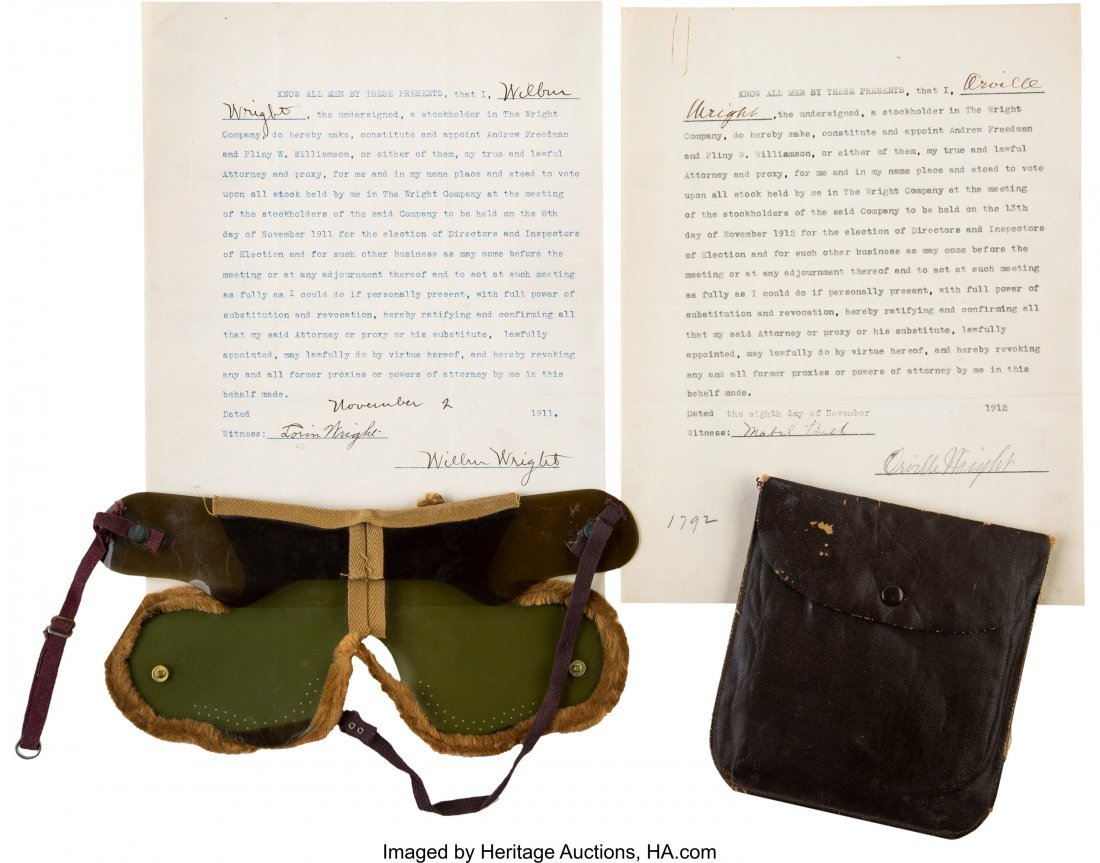 47182: Wilbur and Orville Wright Signed Contracts Toget
