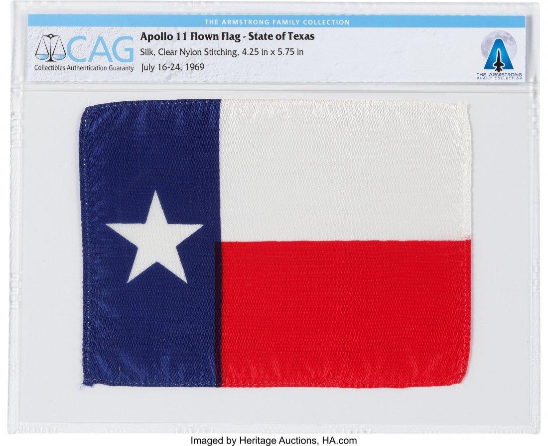 """52271: Apollo 11 Flown """"Lone Star"""" State Flag of Texas"""