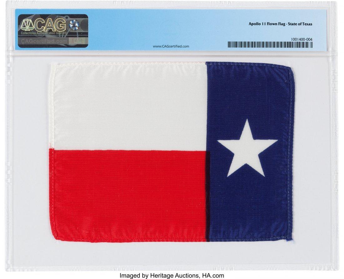 """52271: Apollo 11 Flown """"Lone Star"""" State Flag of Texas  - 2"""