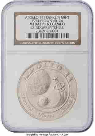 52640: Apollo 14 Flown PF63 Cameo NGC Silver Franklin M