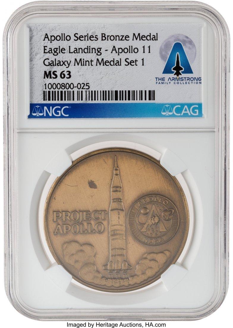 52808: Apollo 11: Galaxy Mint Medal Set 1 Apollo Series