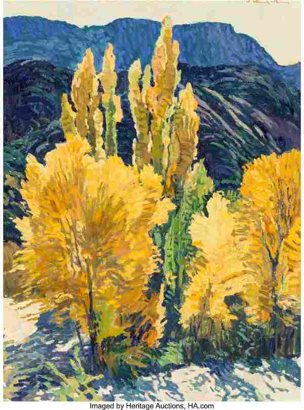 Robert Daughters (American, b. 1929) Poplar Grov