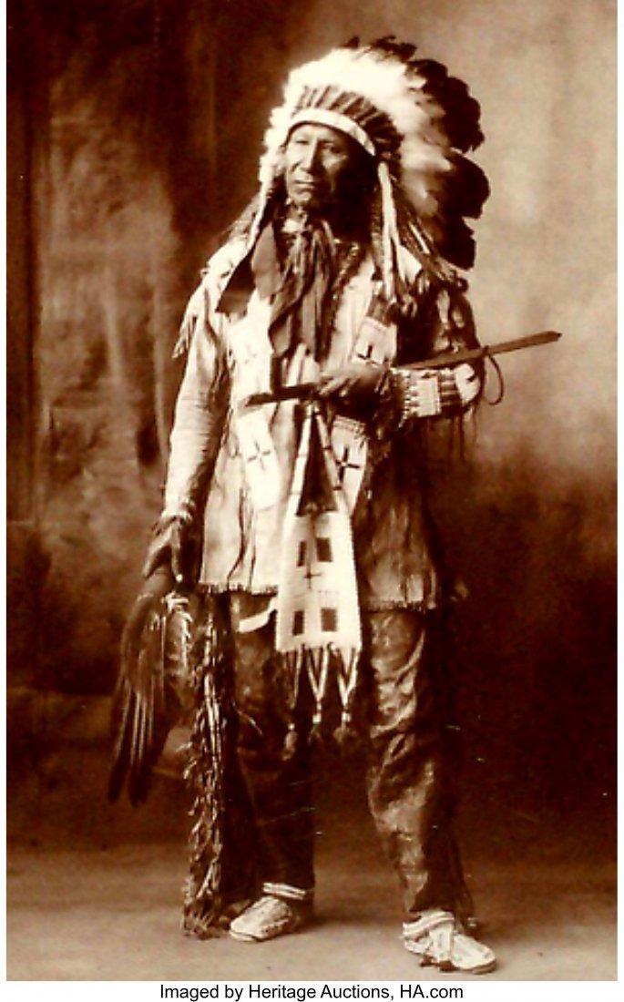 70156: A Sioux Beaded Hide Dress  c. 1920  hide, glass  - 2