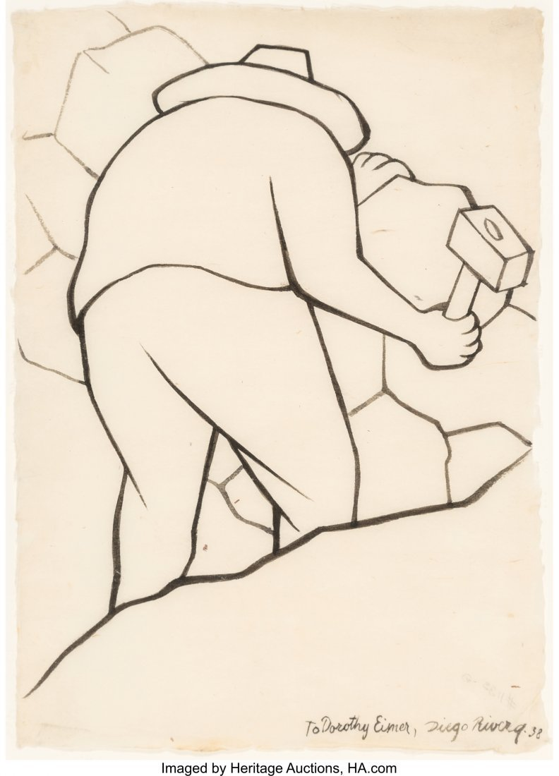Diego Rivera (1886-1957) Untitled, 1938 Ink on paper