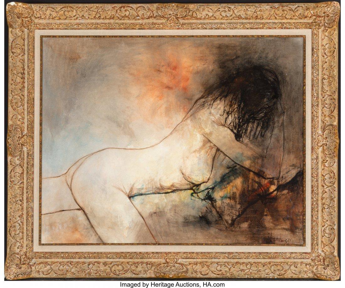 Jean Jansem (1920-2013) Untitled (Reclining Nude), 1972 - 2