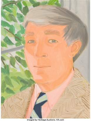 Alex Katz (b. 1927) John Updike, 1982 Oil on aluminum