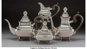 A FourPiece Portuguese Silver Tea and Coffee Service