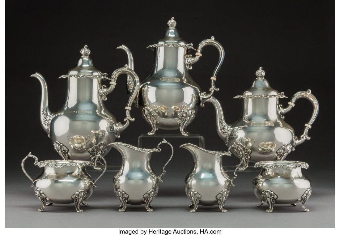 A Seven-Piece Gorham Mgf. Co. Strasbourg Pattern Silver