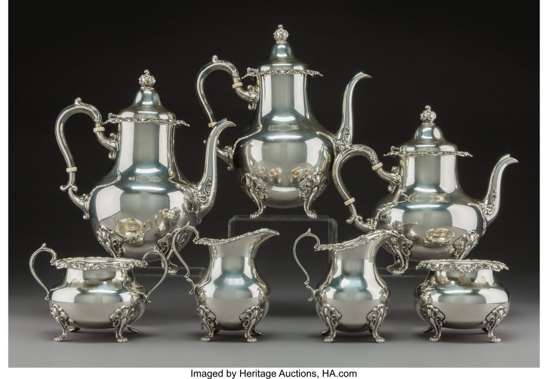 A Seven-Piece Gorham Mgf. Co. Strasbourg Pattern Silver - 2