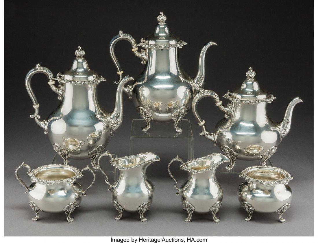 A Seven-Piece Gorham Mgf. Co. Strasbourg Pattern Silver - 3