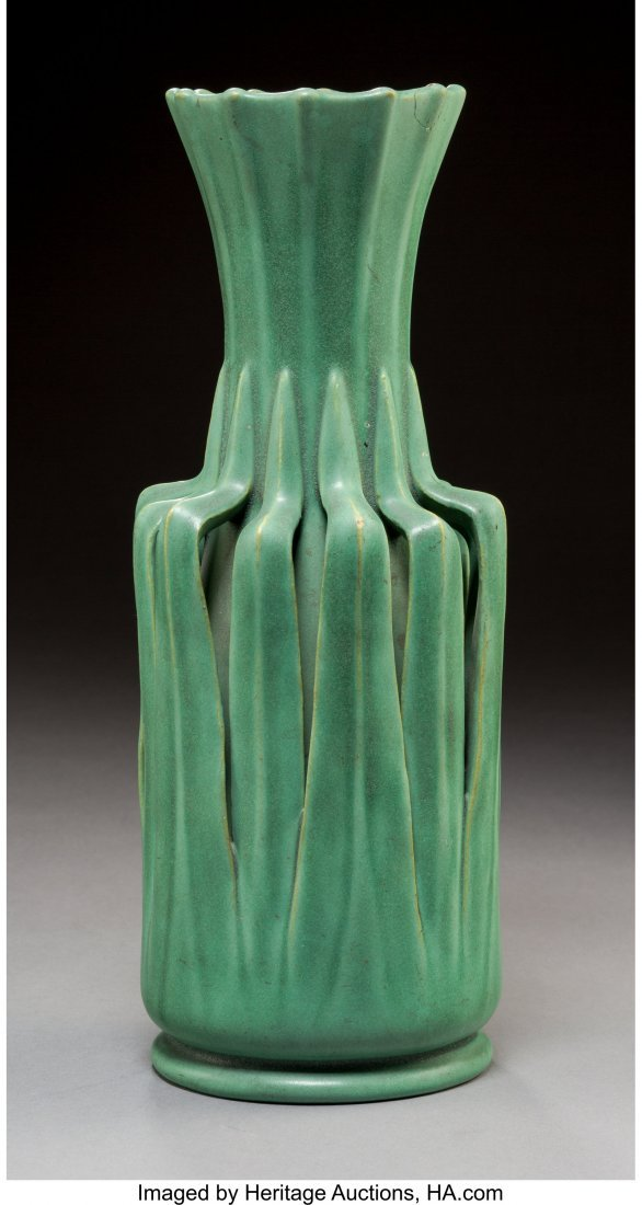 A William J. Dodd for Teco Glazed Ceramic Vase, Crystal