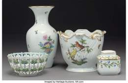 61635 Four Herend Porcelain Table Articles Herend Hu