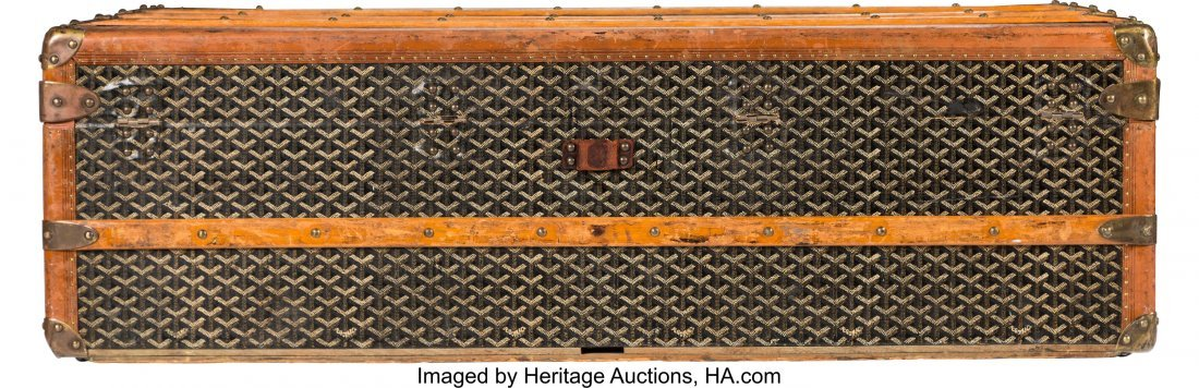 58140: Goyard Black Goyardine Coated Canvas Steamer Tru - 2
