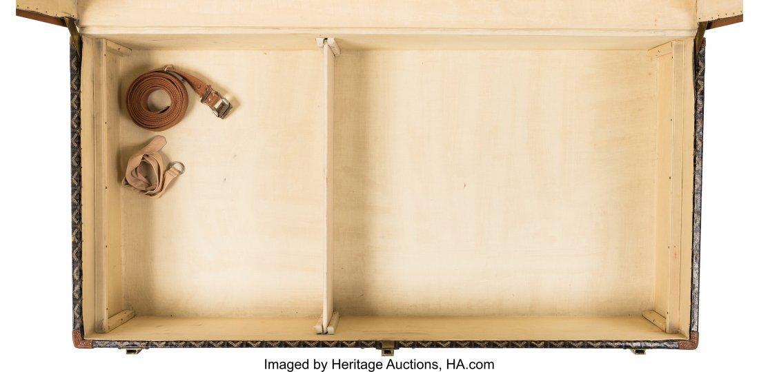 58140: Goyard Black Goyardine Coated Canvas Steamer Tru - 4