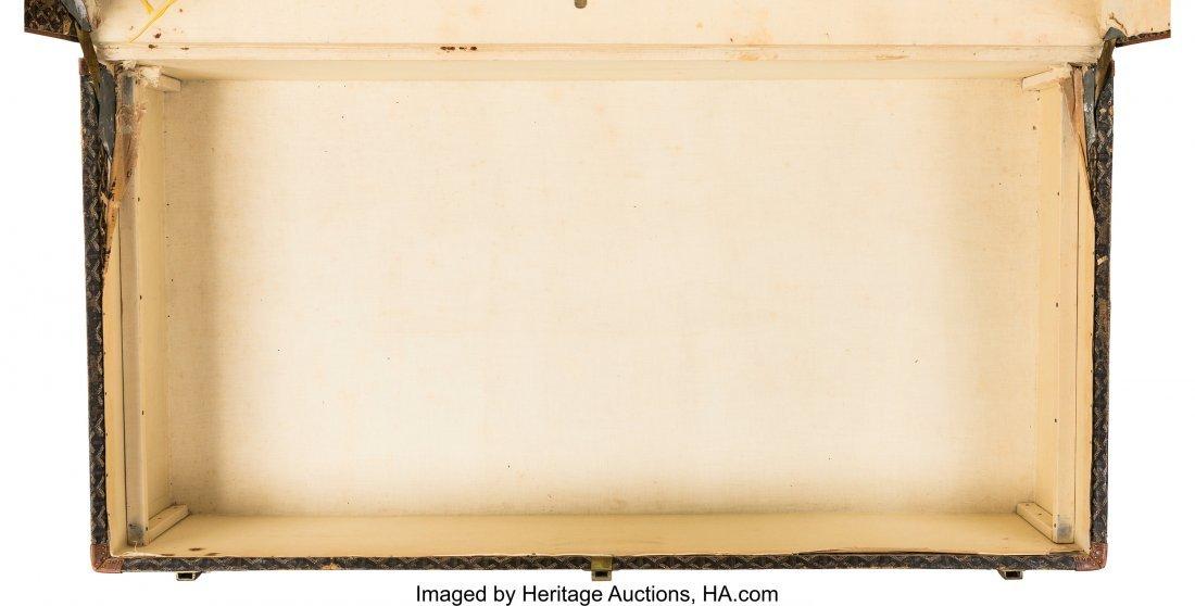 58140: Goyard Black Goyardine Coated Canvas Steamer Tru - 5