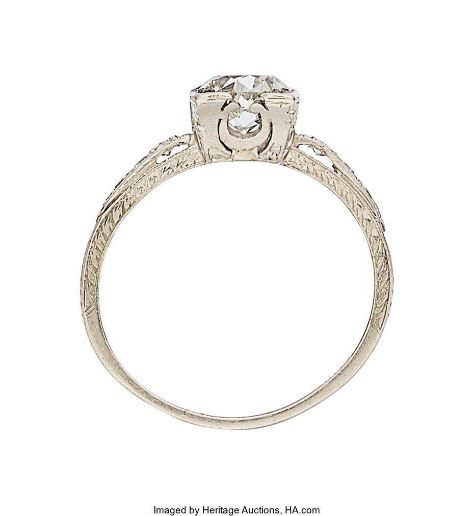 55291: Art Deco Diamond, Platinum Ring  The ring featur - 3