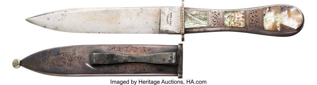 40209: Michael Price Abalone Mosaic California Knife C