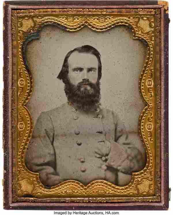 40165: CSA Confederate General Richard Gano: Half-Plate