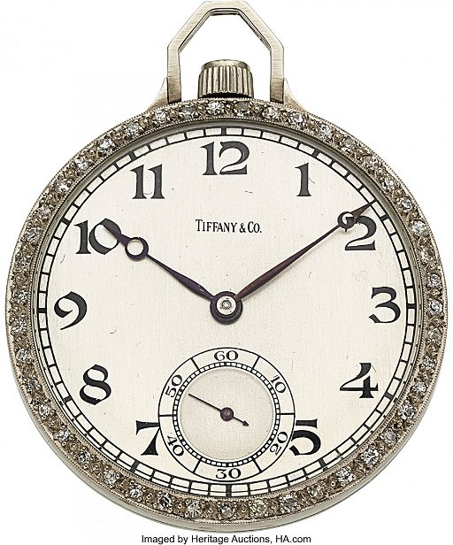 2332d1ca5 54117: Tiffany & Co., Sandoz Platinum & Diamond Pocket. placeholder