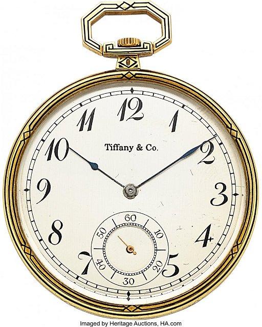 0e1d9c9e3 54118: Tiffany & Co., Touchon Platinum, Gold & Enamel W. placeholder