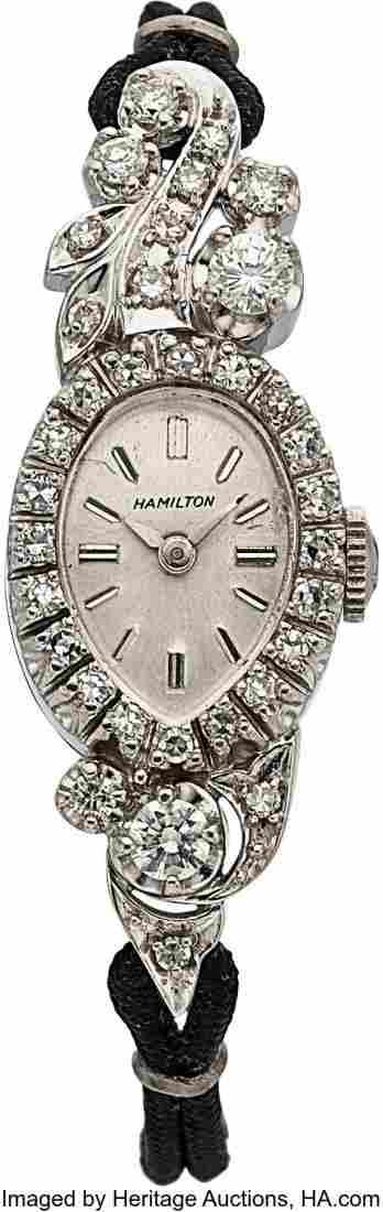 Hamilton Lady's Very Fine Diamond Watch Case: 1
