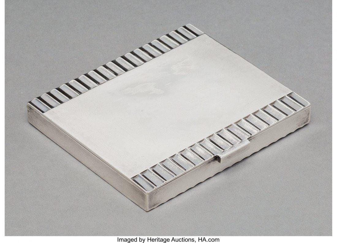 74252: A Georg Jensen Silver Cigarette Case, Copenhagen