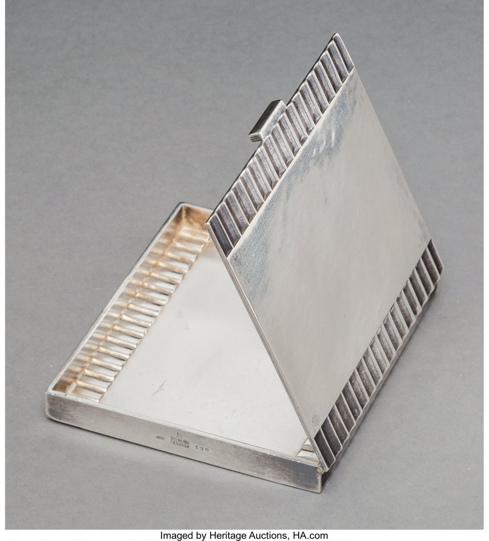 74252: A Georg Jensen Silver Cigarette Case, Copenhagen - 2