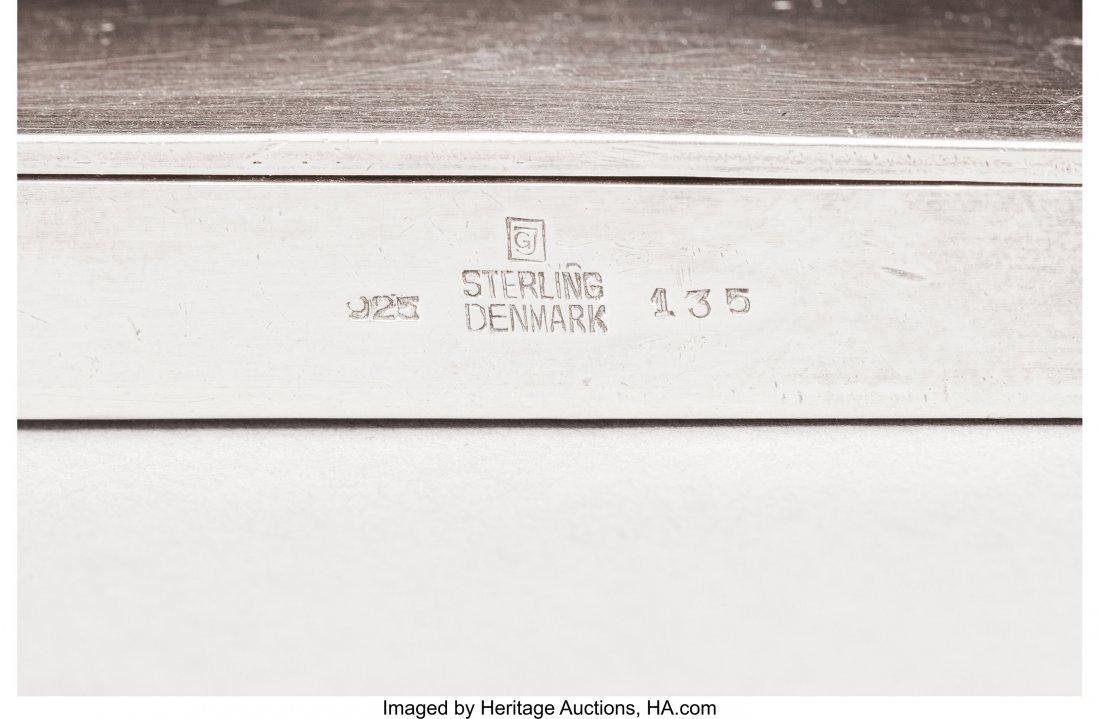 74252: A Georg Jensen Silver Cigarette Case, Copenhagen - 3