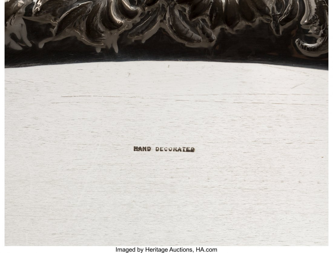 74047: A Large S. Kirk & Son Two-Handled Silver Tray wi - 3