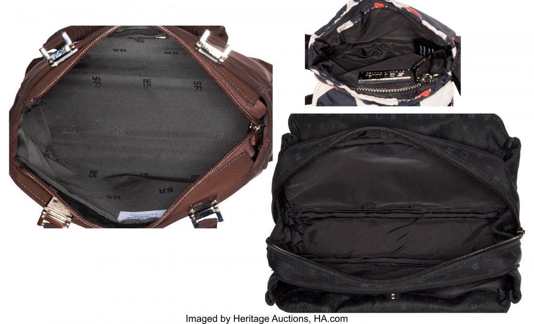 58018: Sonia Rykiel Set of Three: Black, Brown & Pink F - 4
