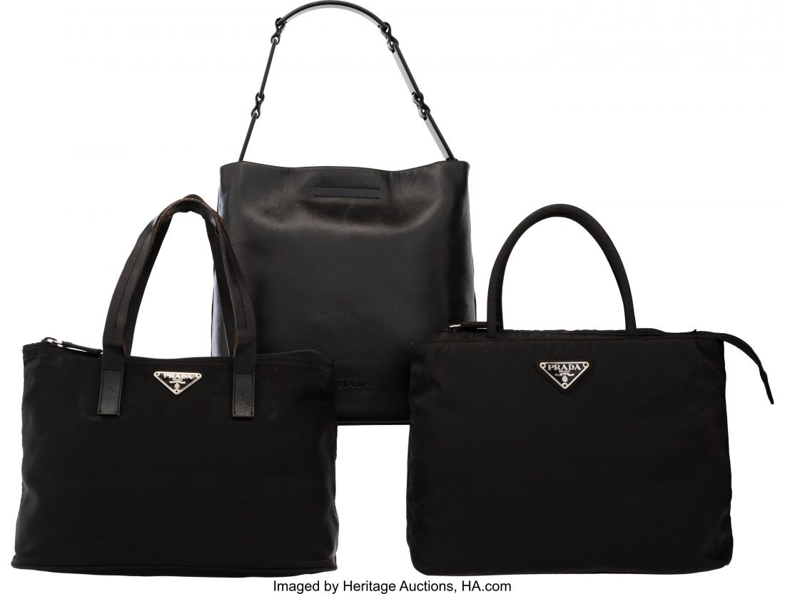 58024: Prada Set of Three: Small Black Bags The Collect