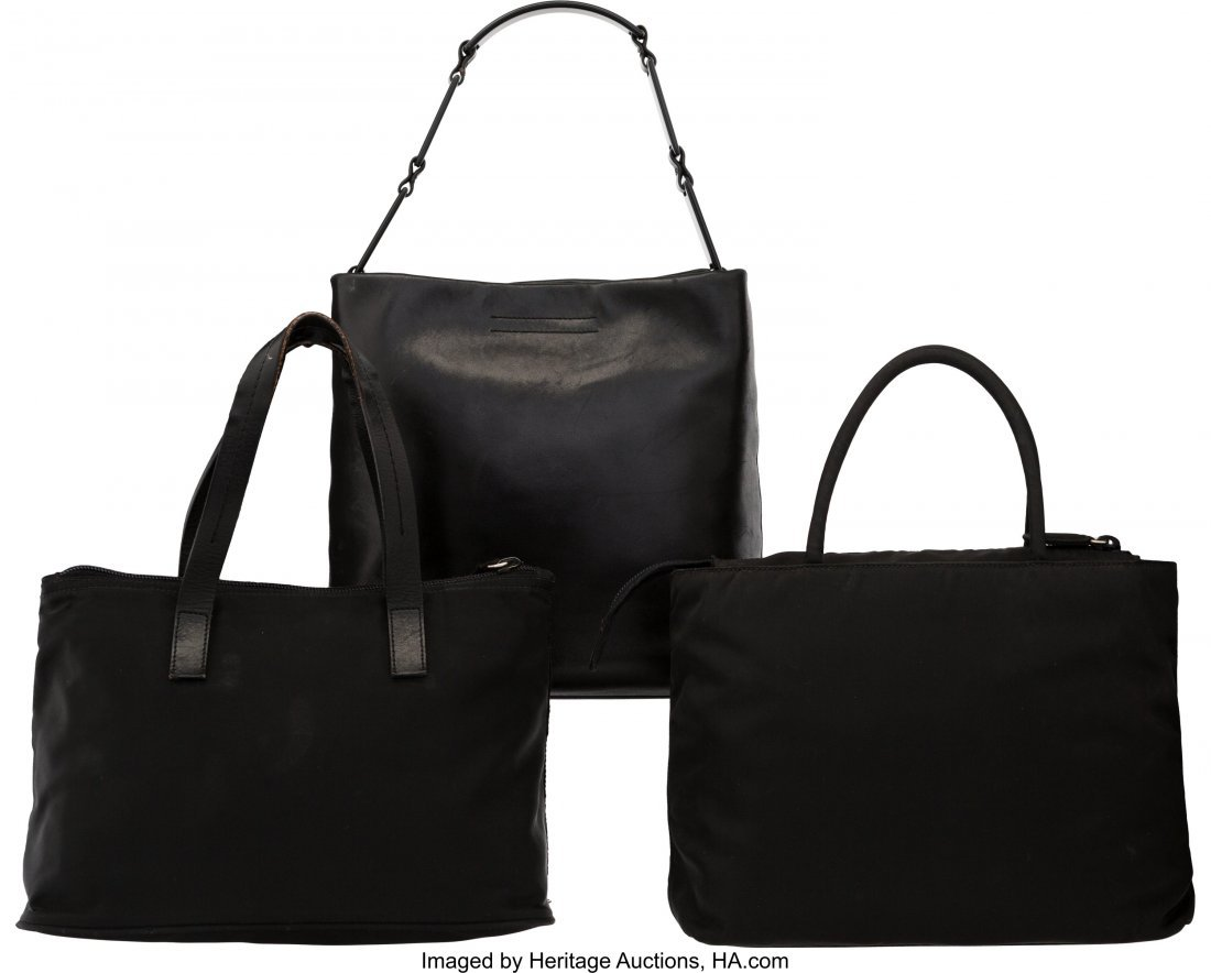 58024: Prada Set of Three: Small Black Bags The Collect - 2