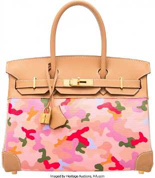 d6a5615175 58063  Hermès 30cm Customized Pink Camouflage Na