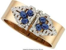 55211: Retro Sapphire, Diamond, Platinum, Gold Converti