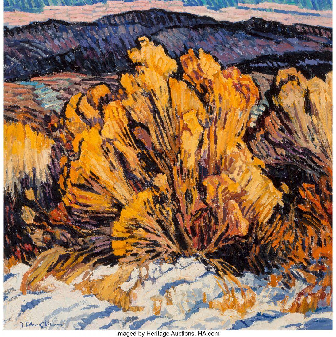 Robert Daughters (American, b. 1929) First Snow