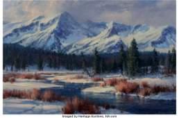 68052: Robert Peters (American, b. 1960) A Winter Morni