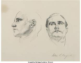 68133: John Singer Sargent (American, 1856-1925) Two St