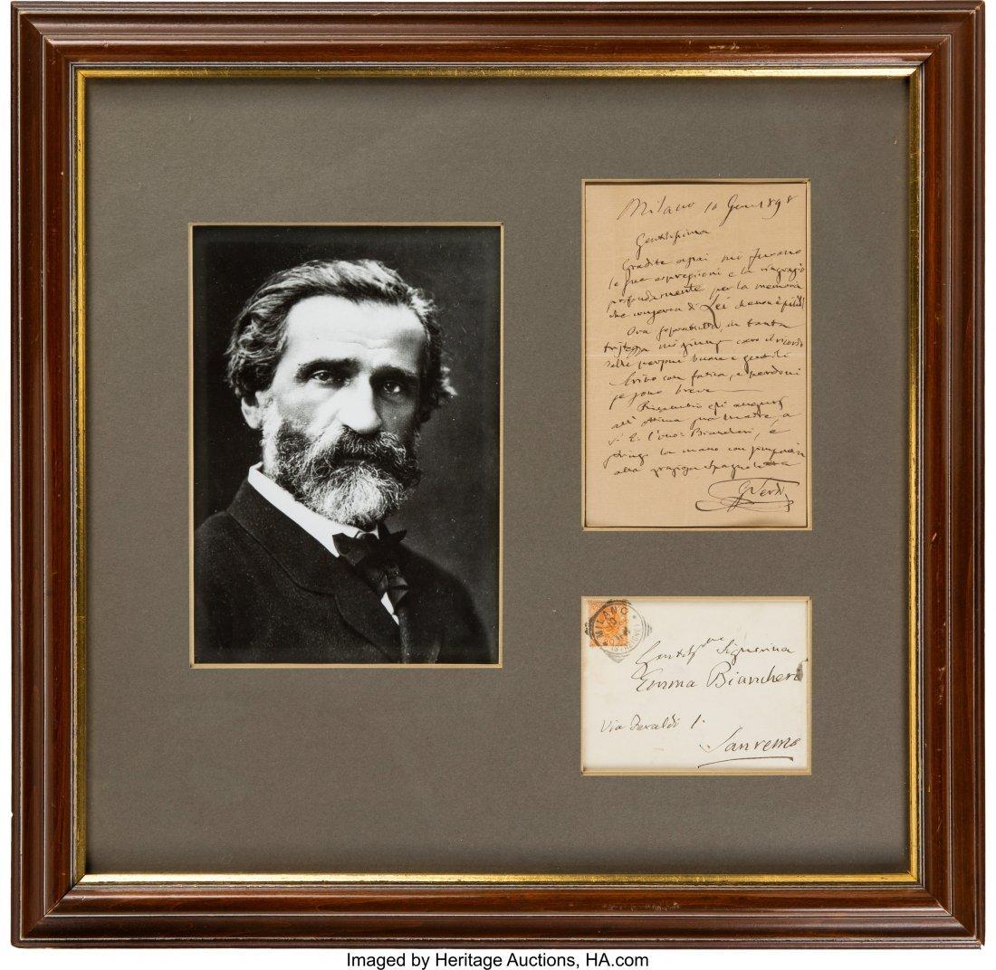 """47161: Giuseppe Verdi Autograph Letter Signed  """"G Verdi"""