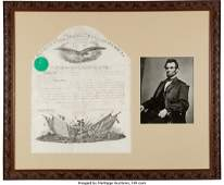 """47090: Abraham Lincoln Military Appointment Signed """"Abr"""