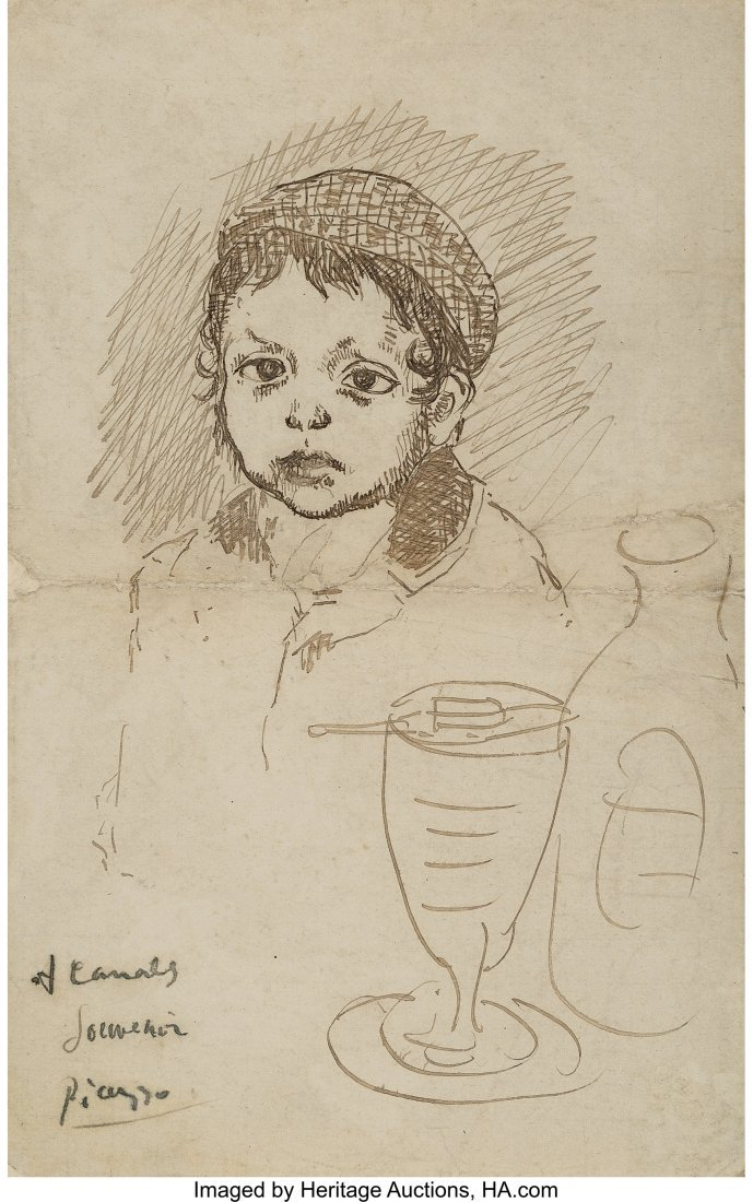 77034: Pablo Picasso (1881-1973) Le fils du peintre Cat
