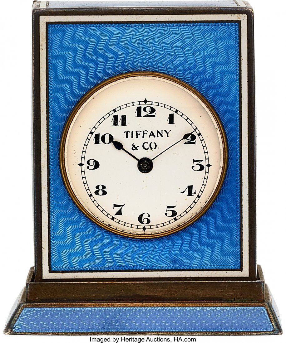 54005: Tiffany & Co., Rare Silver & Enamel Quarter Hour