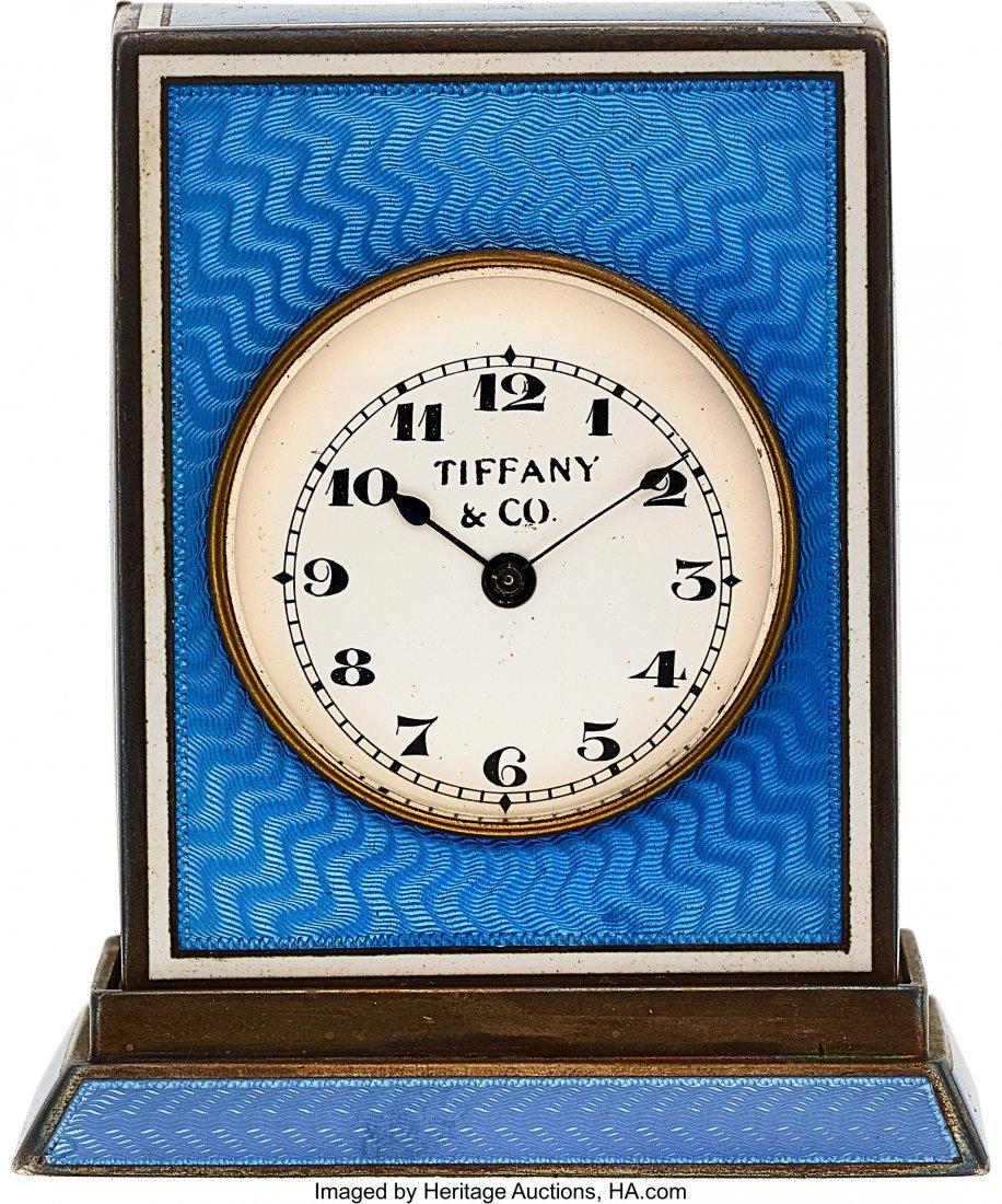 54005: Tiffany & Co., Rare Silver & Enamel Quarter Hour