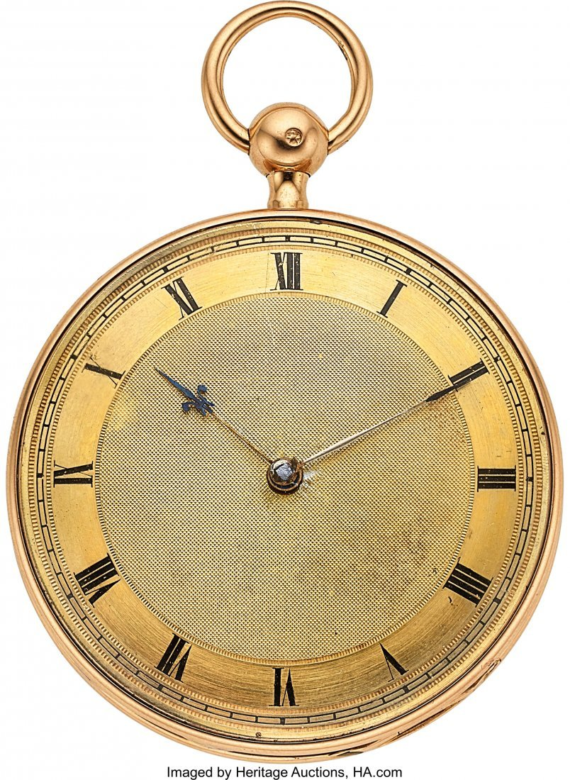 54330: Leroy et Fils, Paris, Fine 18k Gold Quarter Hour