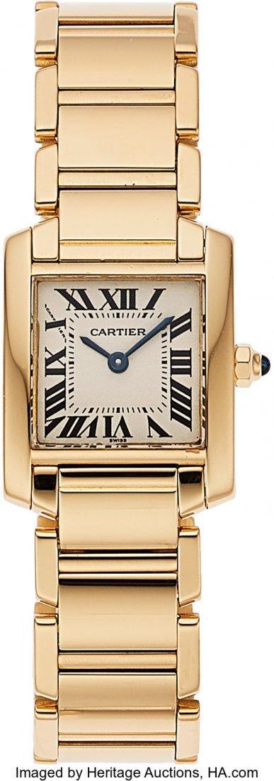 """54179: Cartier, Very Fine """"Tank Française"""" Quart"""