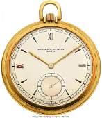 54100: Vacheron & Constantin, Fine 18k Gold Pocket Watc