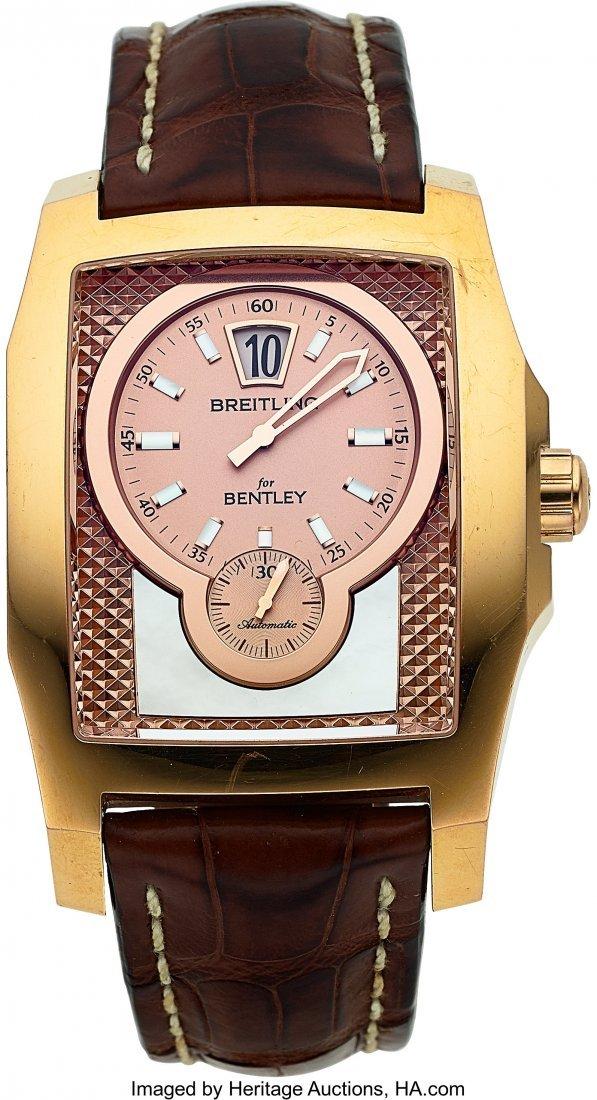 54020: Breitling, Fine 18K Rose Gold Breitling for Bent